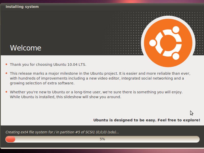 Ubuntu 10.04 Installation