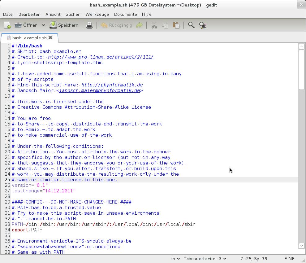 Bash Example Script